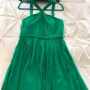 Green J.Crew Silk Dress